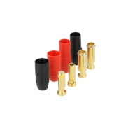 7mm anti spark gold connector system AS150 - 150A - Red 1 Set, Black 1 Set