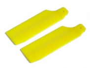 FUSUNO 62mm Neon Yellow Plastic Tail Blade 62 mm - 450 sizes