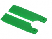 FUSUNO 72mm Extreme Stiff XS Engineering Plastic Neon Tail Blade 72 mm Green - 500 size helis