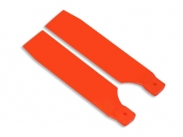 FUSUNO 72mm Extreme Stiff XS Engineering Plastic Neon Tail Blade 72 mm Orange - 500 size helis