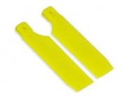 FUSUNO 72mm Extreme Stiff XS Engineering Plastic Neon Tail Blade 72 mm Yellow - 500 size helis