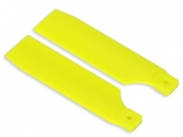 FUSUNO 95mm Extreme Stiff XS Engineering Plastic Neon Tail Blade 95mm Yellow - 50 size helis