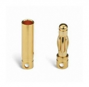4 mm Gold Connectors, 1 paar