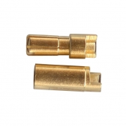 Polymax 5.5 mm Gold Connectors, 1 pair
