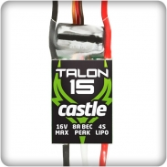 Castle Talon 15, 15V 15AMP ESC with Heavy Duty BEC