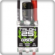 Castle Talon 25, 25V 25 AMP ESC with Heavy Duty BEC